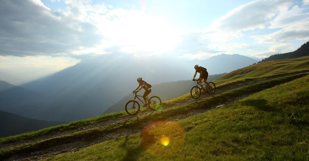 On tour with your mountain bike